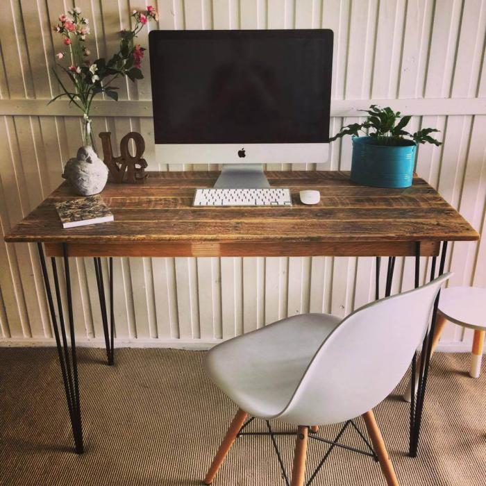 meubles en palette table de travail
