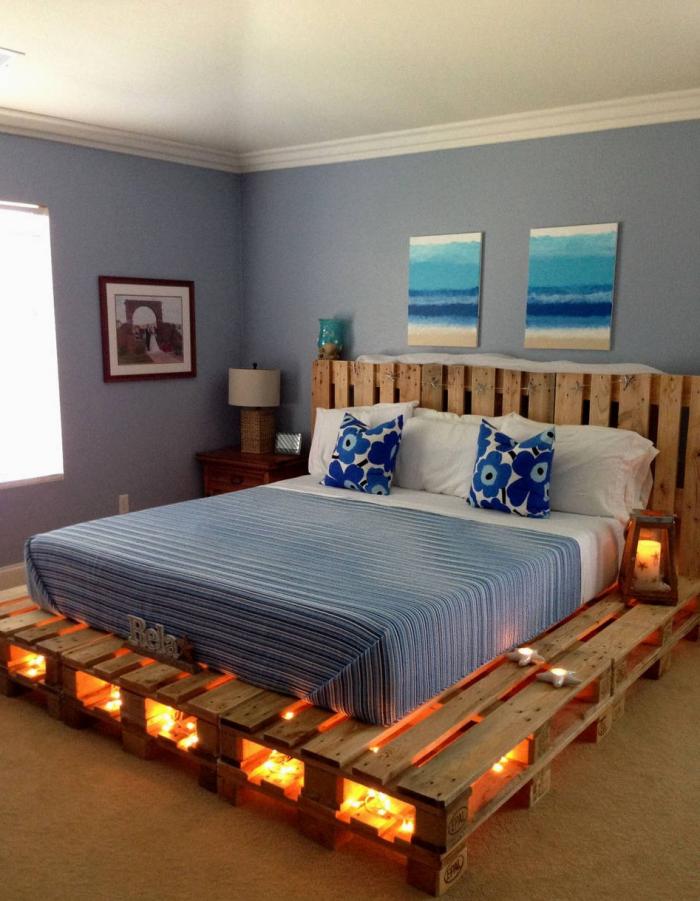meubles en palette un lit-énorme
