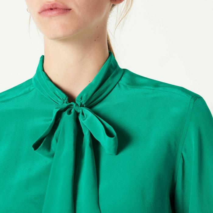 mode femme blouse col lavallière tendances automne-hiver 2019 2020
