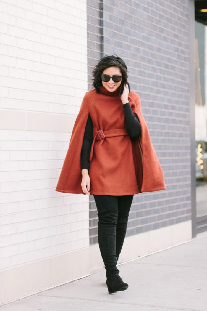 mode femme cape tendances automne hiver 2019 2020 idée