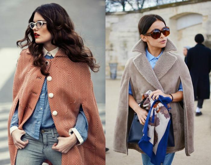 mode femme cape tendances automne hiver 2019 2020