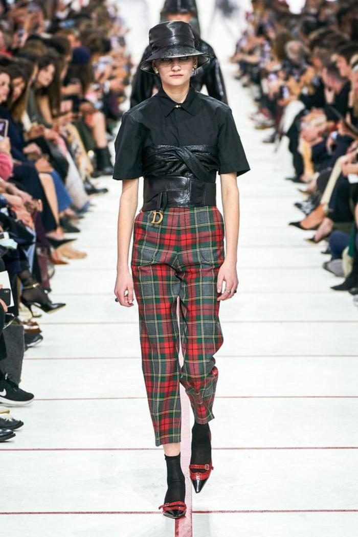 mode femme tendances automne hiver 2019 2020 tartan