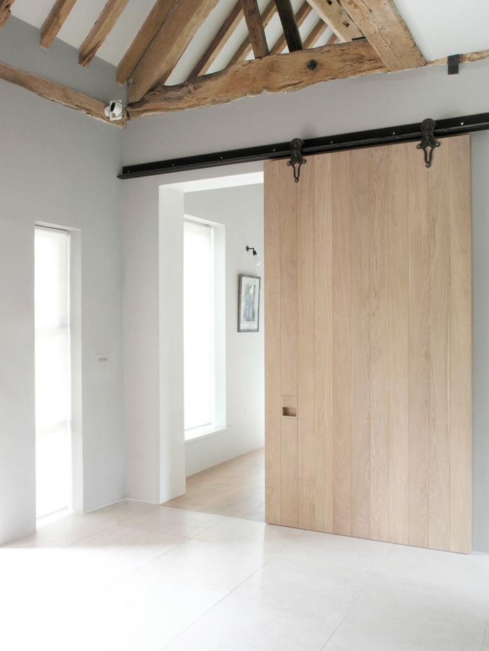 portes coulissantes en applique idée gain de place