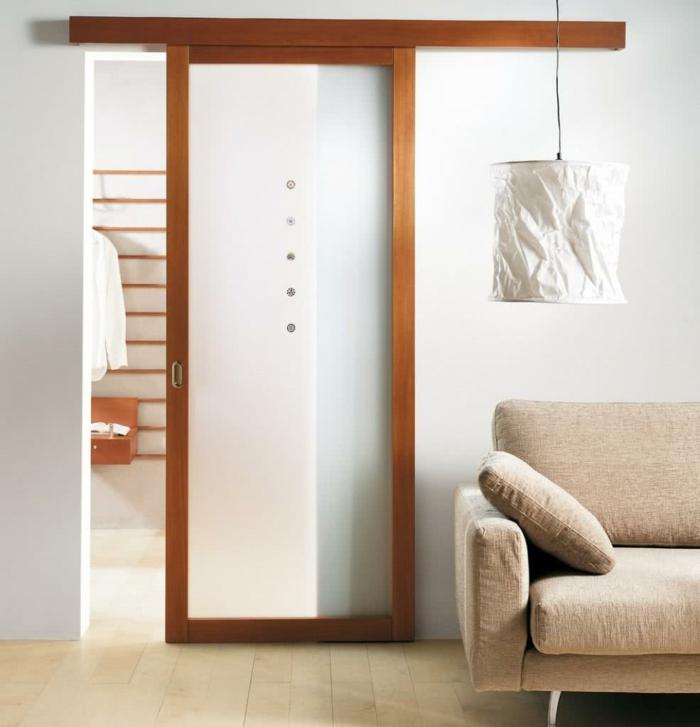 portes coulissantes modèle en applique en bois et verre (2)