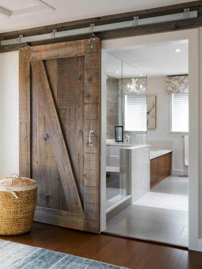 portes coulissantes modèle en bois brut