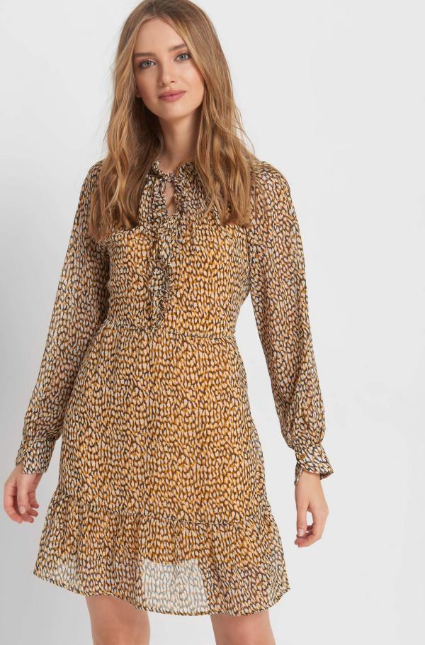 robe élégante automne 2019 imprimé léopard