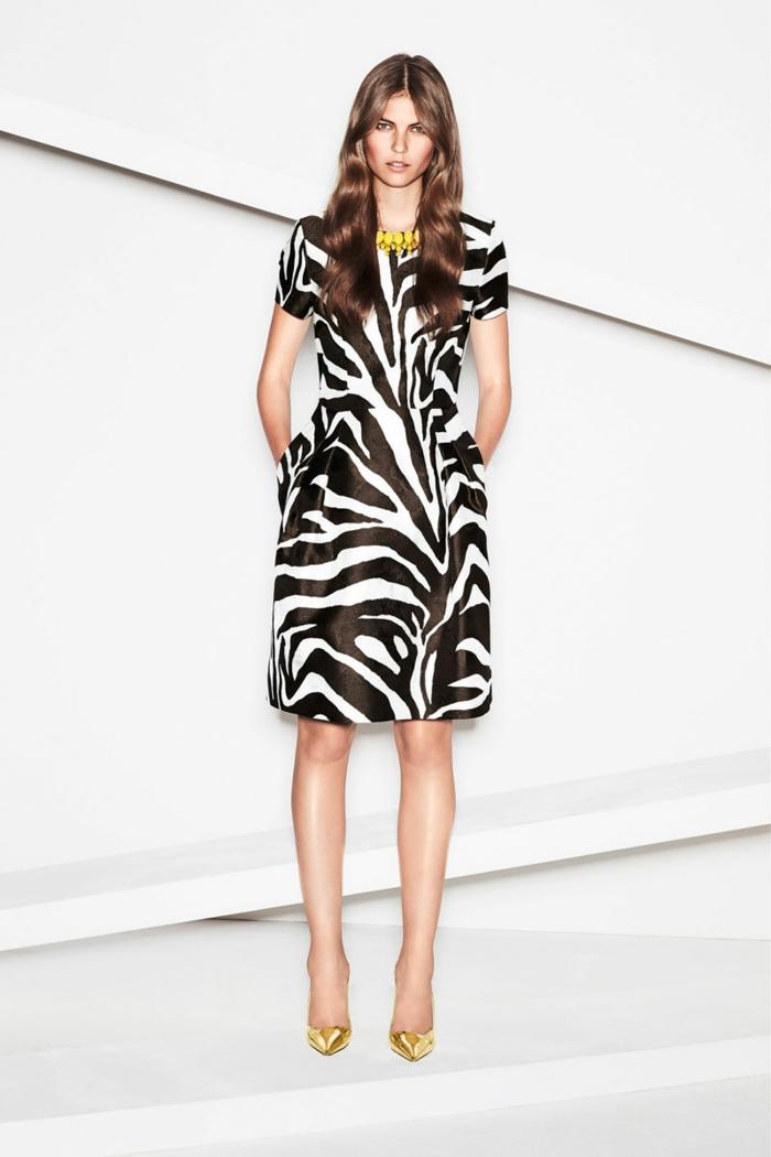 robe imprimé zebra tendances automne hiver 2019 2020
