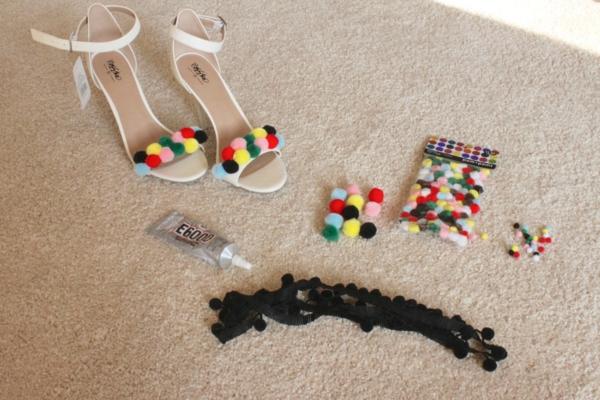 sandales pompon femme à faire vous-même