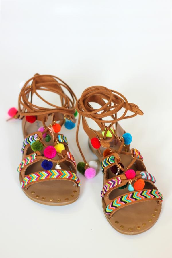 sandales pompon femme à se faire