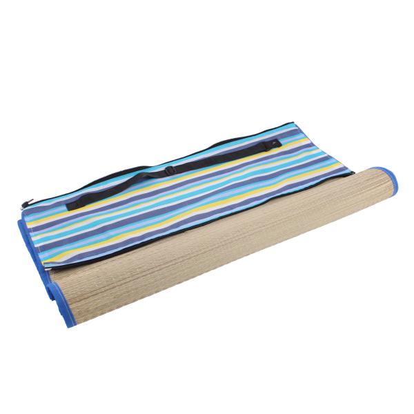 tapis de plage en paille à rayures