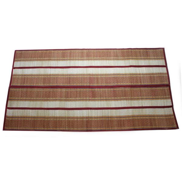 tapis de plage en paille couleur marron
