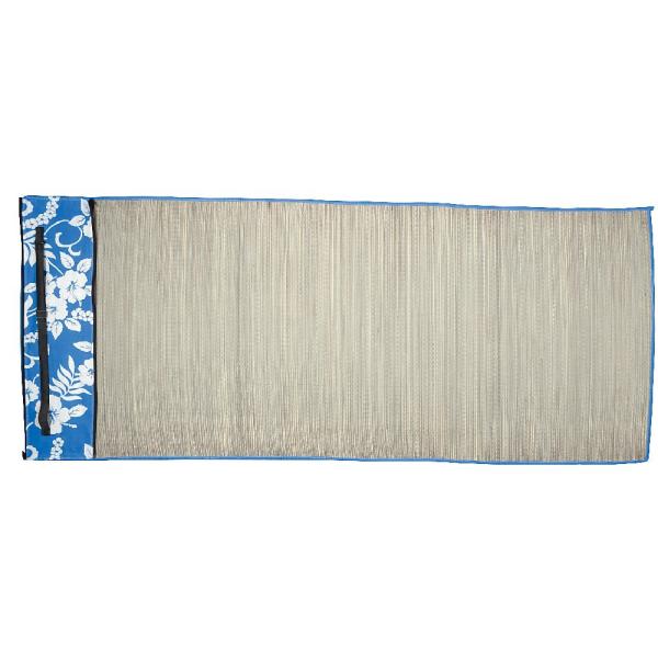 tapis de plage en paille en gris