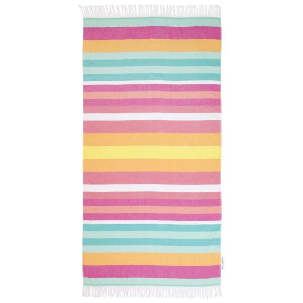 tapis de plage en paille un tapis multicolore