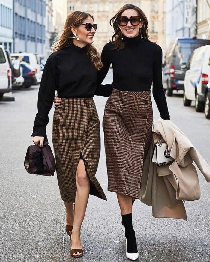 tendances automne hiver 2019 2020 jupe en tweed