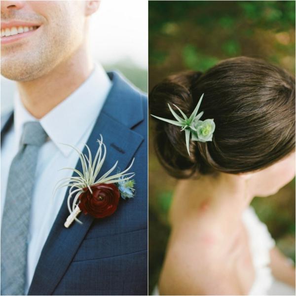 tenue de mariage plante Tillandsia