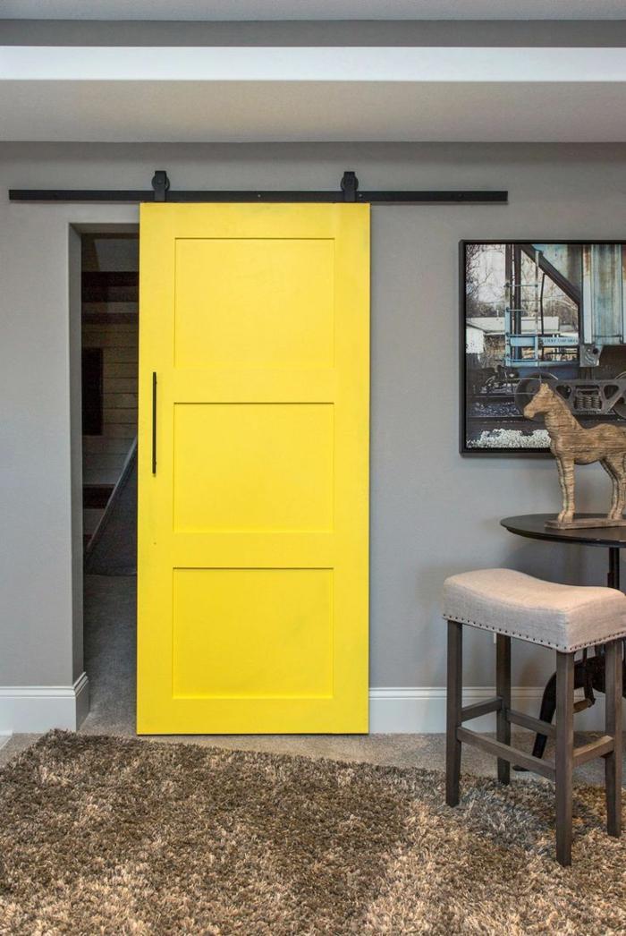 touche de couleur portes coulissantes