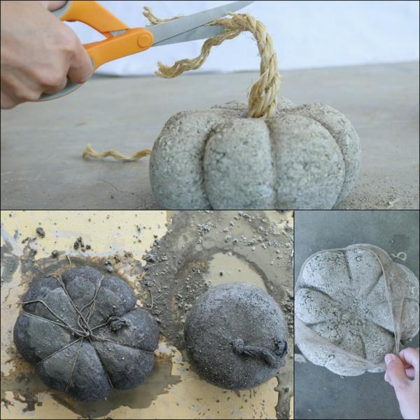 Comment faire une citrouille en béton à l'aide d'un collant