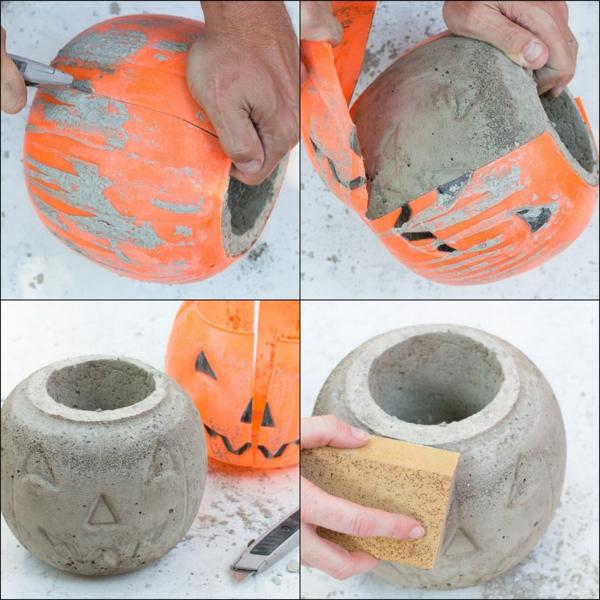 Comment faire une citrouille en béton à l'aide d'un moule plastique
