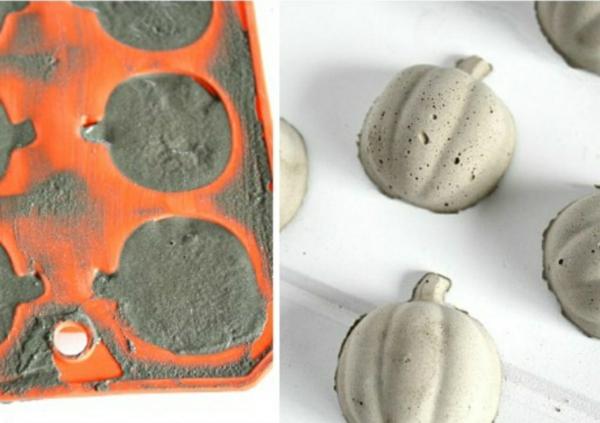 Comment faire une citrouille en béton dans un moule à muffin