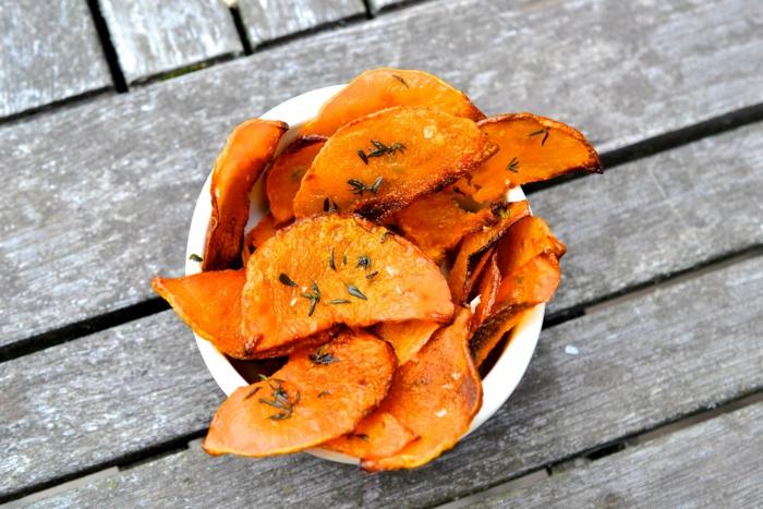 Frites de patates douces recette frites citrouille