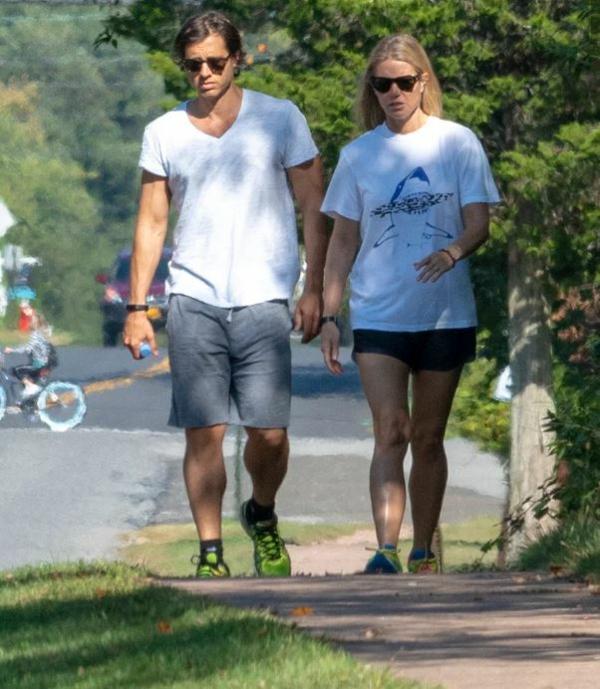 Gwyneth Paltrow et Brad Falchuk promenade