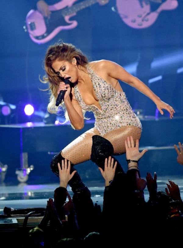 Jennifer Lopes pendant le concert