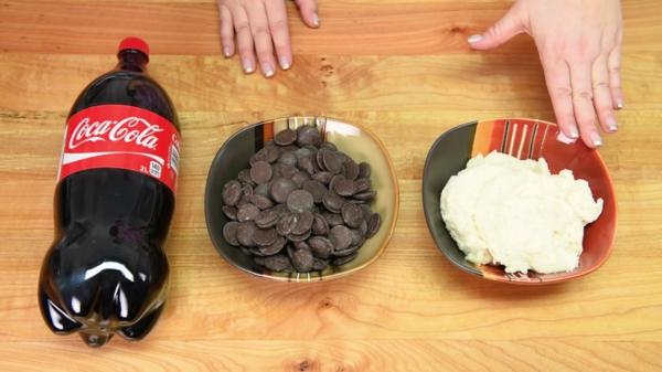 Préparer le gâteau bouteille de coca ingrédients