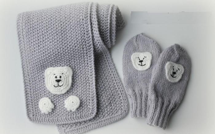 accessoires enfant pour la rentrée écharpe et gants