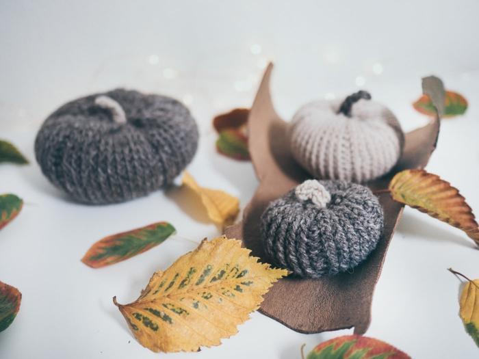 activités manuelles automne déco à tricoter