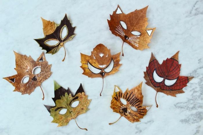 avtivités manuelles automne idées dessins sur feuilles d'automne