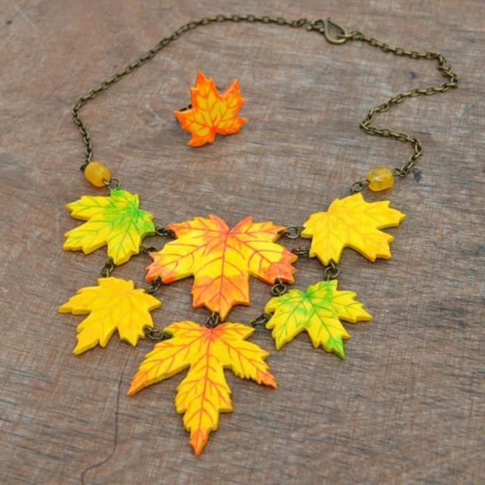 bijoux pâte fimo activités manuelles automne