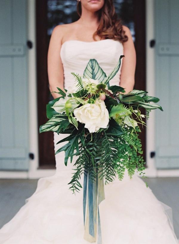 bouquet de mariée automnal gardenia verdure