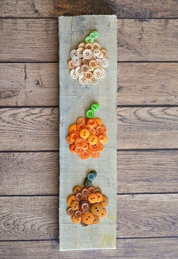 bricolage automne avec des boutons