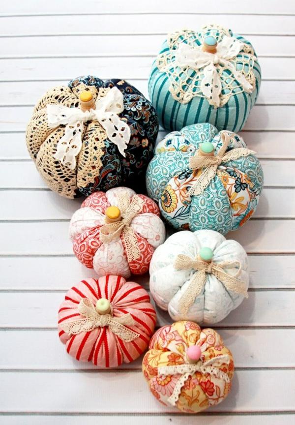 bricolage automne citrouilles en textile