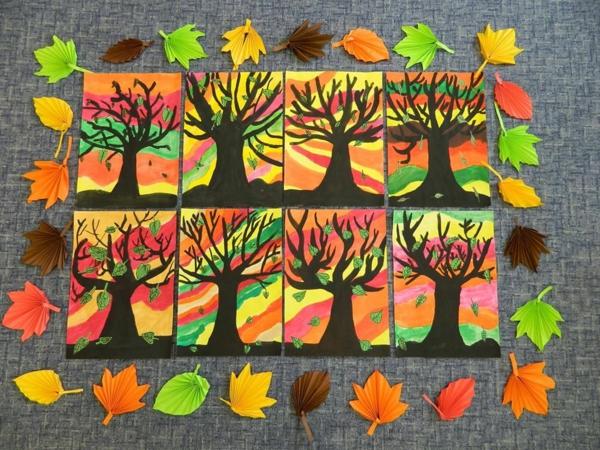 bricolage automne dessins thématiques