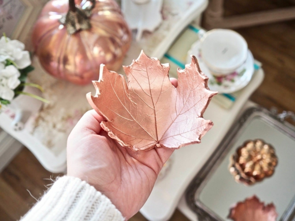 bricolage automne feuille en pâte polymère