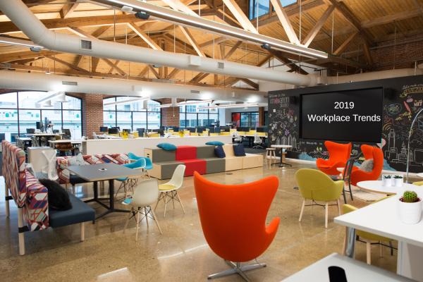 bureau contemporain design tendances de lieu de travail