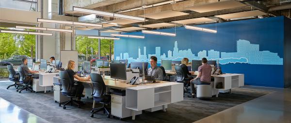bureau contemporain design travailler en équipe