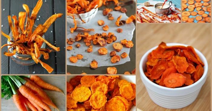 carottes Frites de patates douces