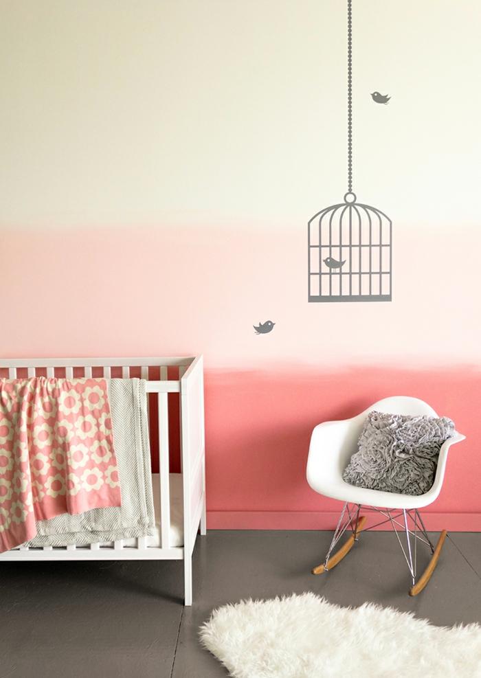 chambre bébé effet tie and dye