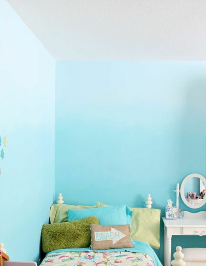 chambre enfant effet tie and dye