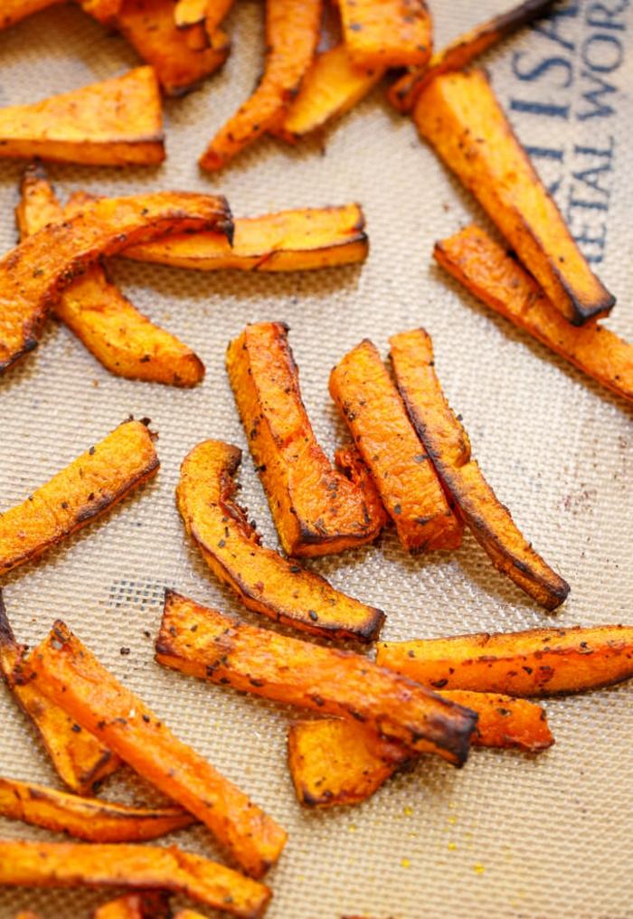 citrouille recette frites de patate douce