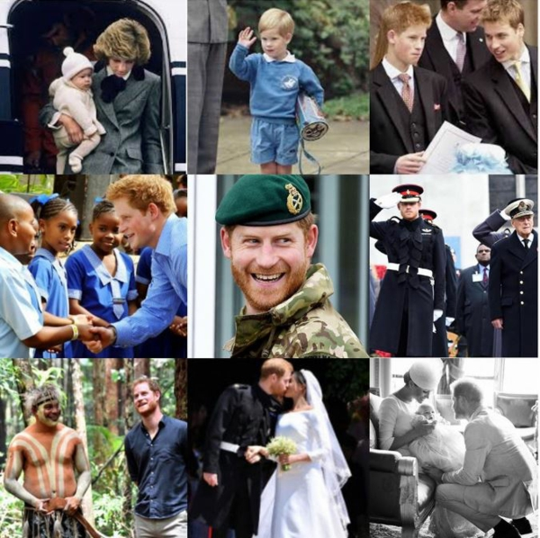 collage photo anniversaire prince harry
