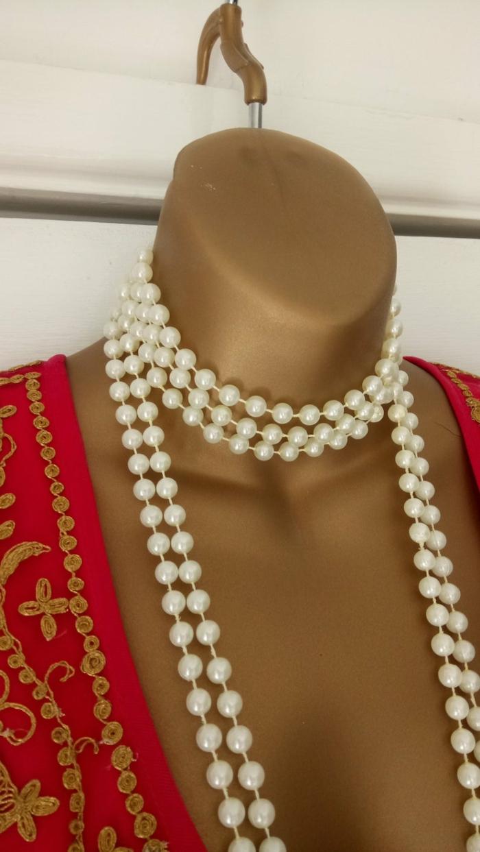 collier de perles style 20s déguisement années 20