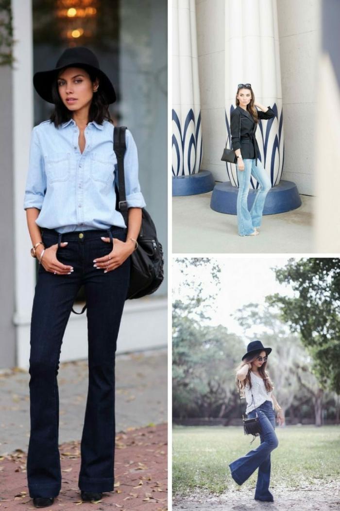 comment porter le jean flare femme
