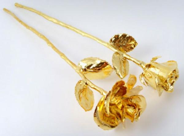 conserver un bouquet de mariage avec or