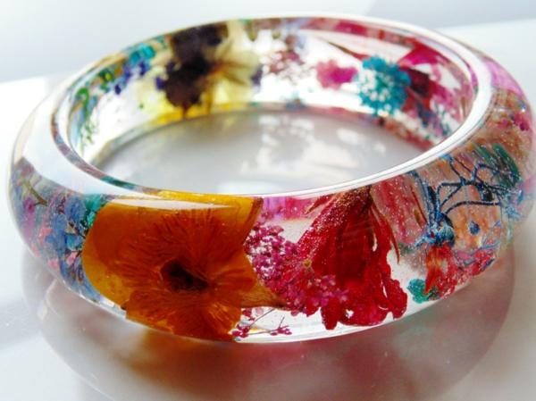 conserver un bouquet de mariage bracelet en résine diy