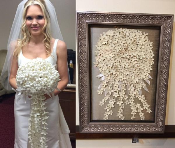 conserver un bouquet de mariage tableau décoratif