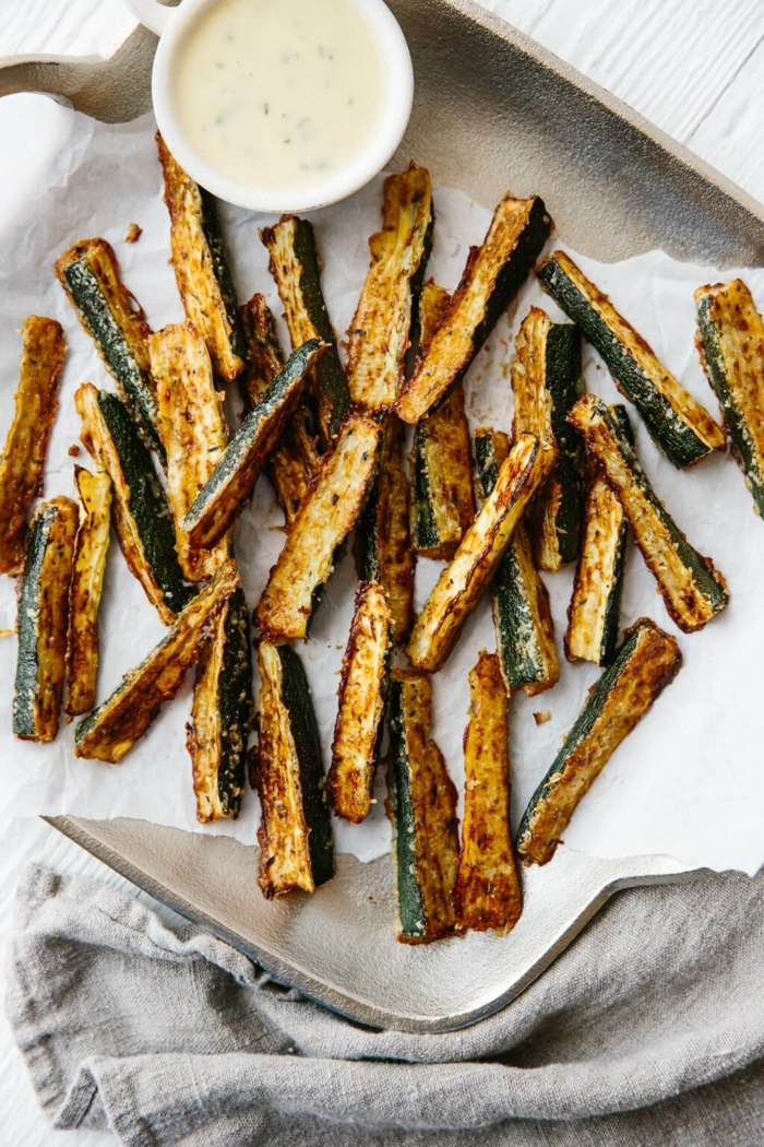 courgettes au four idée frites de patate douce