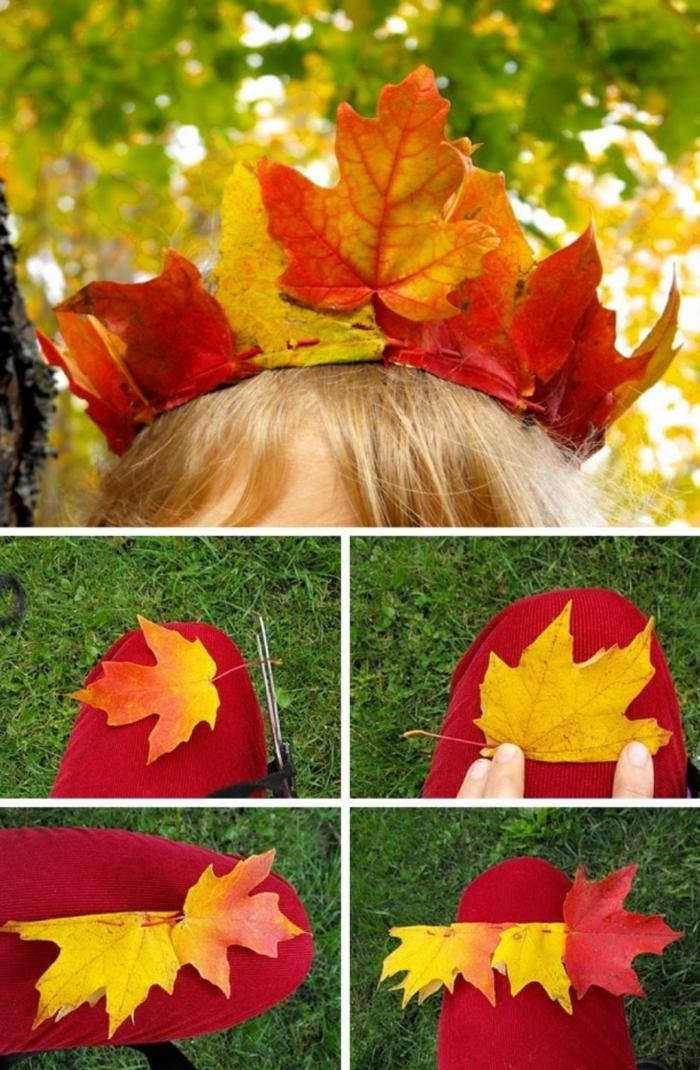 couronne pour enfant activités manuelles automne